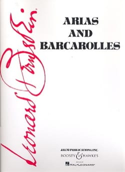 Leonard Bernstein - Arias And Barcarolles - Partition - di-arezzo.fr