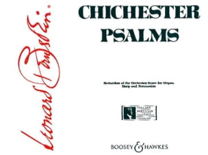 Chichester Psalms BERNSTEIN Partition Chœur - laflutedepan