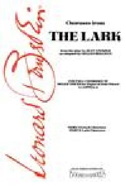 The Lark French+latin Choruses BERNSTEIN Partition laflutedepan