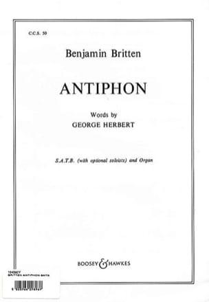 Antiphon Op. 56b - BRITTEN - Partition - Chœur - laflutedepan.com