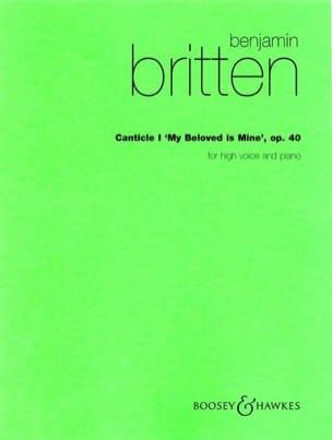 Benjamin Britten - Canticle 1 Opus 40. Voix Haute - Partition - di-arezzo.fr