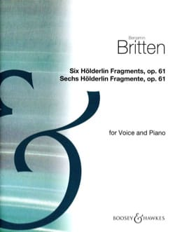 Benjamin Britten - 6 Holderlin-Fragmente Op. 61 - Partition - di-arezzo.fr