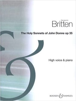 Benjamin Britten - The Holy Sonnets Of John Donne Opus 35. Voix Haute - Partition - di-arezzo.fr