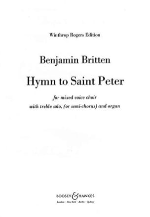 Benjamin Britten - Hymn To St. Peter Opus 56a - Sheet Music - di-arezzo.co.uk