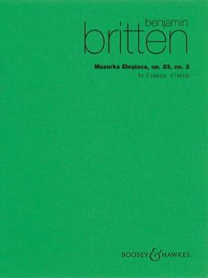 Mazurka Elegiaca Opus 23-2. 2 Pianos BRITTEN Partition laflutedepan