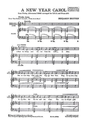 Benjamin Britten - New Year Carol - Sheet Music - di-arezzo.co.uk