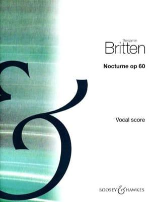 Benjamin Britten - Nocturne Opus 60 - Partition - di-arezzo.fr