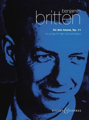 On This Island Opus 11 BRITTEN Partition Mélodies - laflutedepan