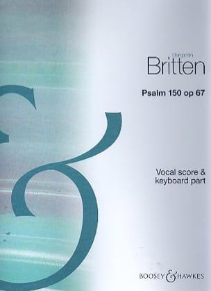 Benjamin Britten - Psalm 150 Opus 67 - Partition - di-arezzo.fr