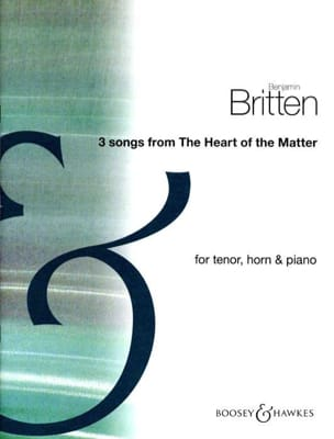 Benjamin Britten - 3 Songs From The Heart Of The Matter - Partition - di-arezzo.fr