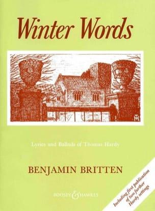 Winter Words Opus 52 - Benjamin Britten - Partition - laflutedepan.com
