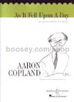 As It Fell Upon A Day - Aaron Copland - Partition - laflutedepan.com