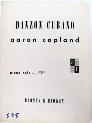 Aaron Copland - Danzon Cubano - Partition - di-arezzo.fr