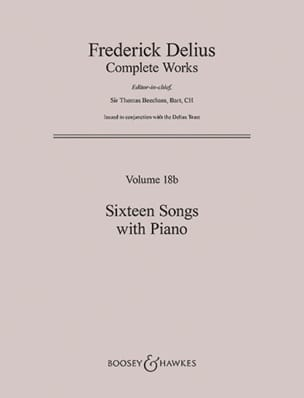 Frederick Delius - 16 Songs With Piano - Partition - di-arezzo.fr