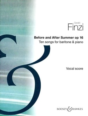 Gerald Finzi - Before And After Summer Op. 16 - Partition - di-arezzo.fr