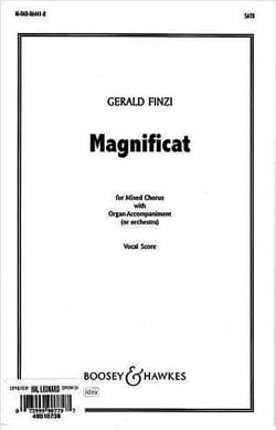 Magnificat Gerald Finzi Partition Chœur - laflutedepan