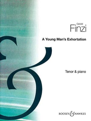 A Young Man's Exhortation Op. 74 Gerald Finzi Partition laflutedepan