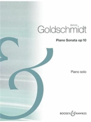 Sonate Op. 10 - B Goldschmidt - Partition - Piano - laflutedepan.com