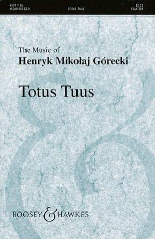 Henryk Mikolaj Gorecki - Totus Tuus Opus 60 - Sheet Music - di-arezzo.com