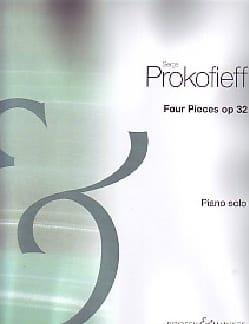 4 Pièces Opus 32 PROKOFIEV Partition Piano - laflutedepan