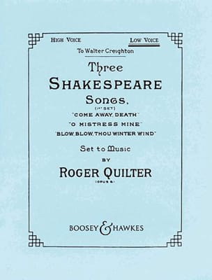 Roger Quilter - 3 Shakespeare Songs Opus 6. High Voice - Sheet Music - di-arezzo.com