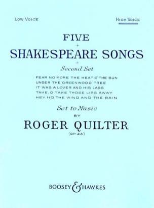 5 Shakespeare Songs Opus 23. Voix Haute Roger Quilter laflutedepan