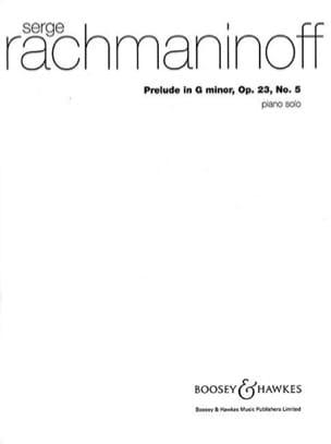 RACHMANINOV - プレリュードのGマイナー作品23-5 - 楽譜 - di-arezzo.jp