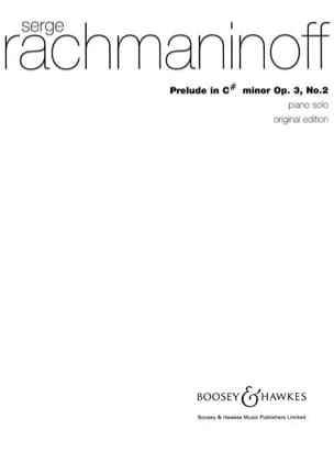 RACHMANINOV - Prelude Opus 3 N ° 2 in DO sharp minor - Sheet Music - di-arezzo.co.uk