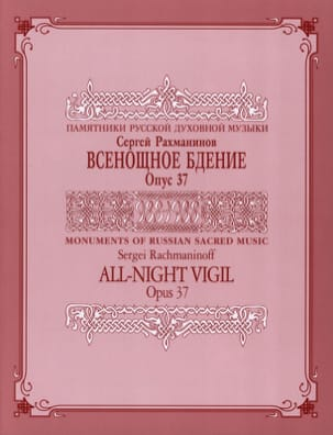 RACHMANINOV - Vespers Opus 37 - Sheet Music - di-arezzo.co.uk