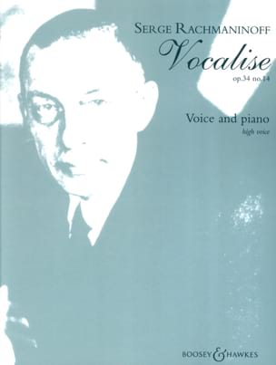 RACHMANINOV - Vocalise Opus 34-14. Soprano - Sheet Music - di-arezzo.co.uk