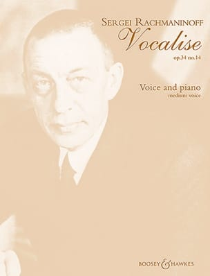 RACHMANINOV - Vocalise Opus 34-14. mezzo - Sheet Music - di-arezzo.co.uk