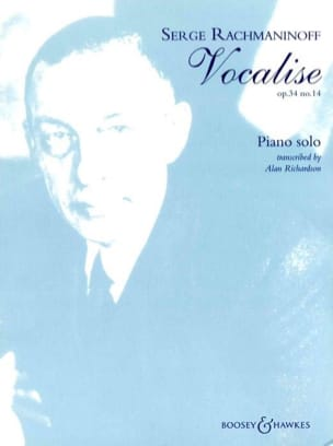 RACHMANINOV - Vocalise Opus 34-14. Piano - Sheet Music - di-arezzo.co.uk