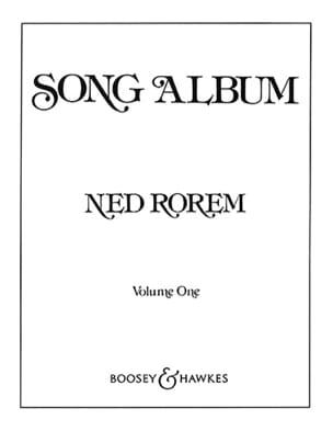 Song Album Volume 1 Ned Rorem Partition Mélodies - laflutedepan