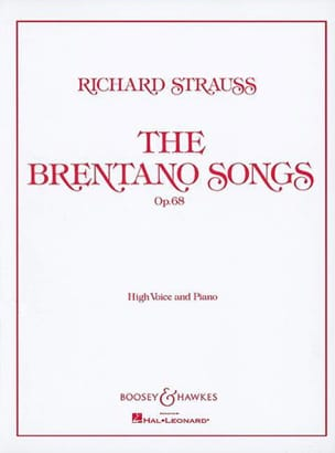Richard Strauss - Brentano Lieder Opus 68. High Voice - Partitura - di-arezzo.es