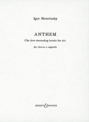 Anthem STRAVINSKY Partition Chœur - laflutedepan