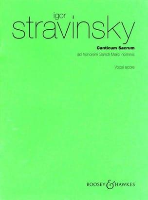 Canticum Sacrum - Igor Stravinski - Partition - laflutedepan.com