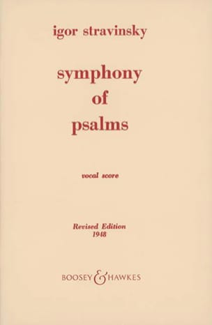 Igor Stravinski - Symphony of Psalms - Sheet Music - di-arezzo.com