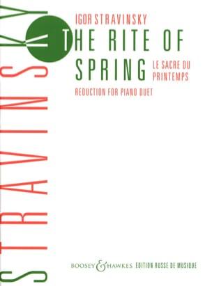 Igor Stravinski - Le Sacre Du Printemps. 4 Mains - Partition - di-arezzo.fr