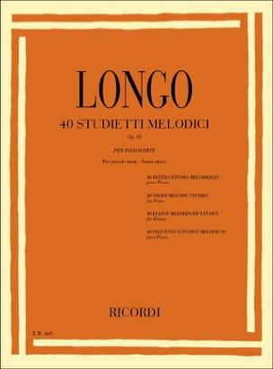 Longo - 40 Etudes Mélodiques Opus 43 - Partition - di-arezzo.fr
