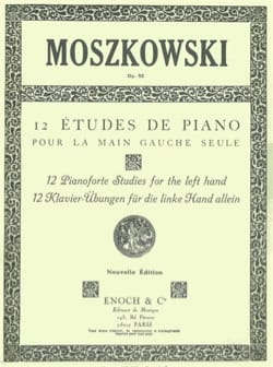 Moritz Moszkowski - 12 Studies For The Left Hand Only Opus 92 - Sheet Music - di-arezzo.co.uk