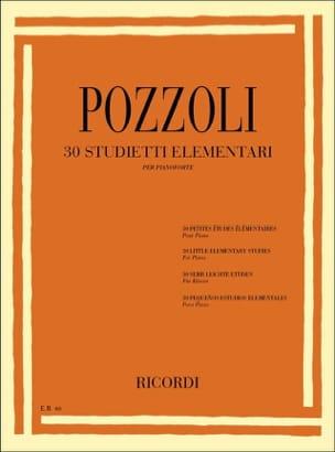 30 Petites Etudes Elémentaires Ettore Pozzoli Partition laflutedepan