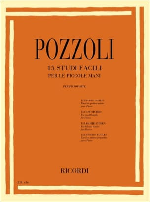 Ettore Pozzoli - 15 Studi Facili For the Piccole Mani - Sheet Music - di-arezzo.co.uk