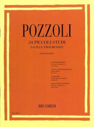 24 Piccoli Studi Ettore Pozzoli Partition Piano - laflutedepan
