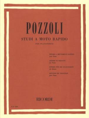 Studi A Moto Rapido Ettore Pozzoli Partition Piano - laflutedepan