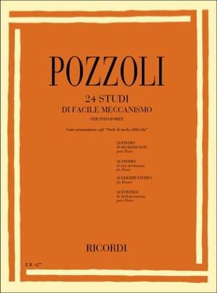 24 Etudes de Mécanisme Facile Pozzoli Partition Piano - laflutedepan