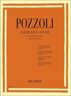 Exercices et Etudes - Pozzoli - Partition - Piano - laflutedepan.com