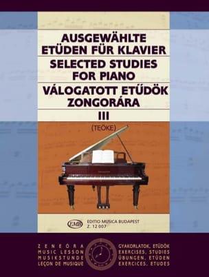 Etudes Choisies Volume 3 Teöke Partition Piano - laflutedepan