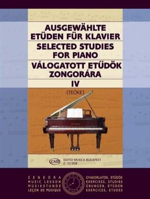 Etudes Choisies Volume 4 Teöke Partition Piano - laflutedepan