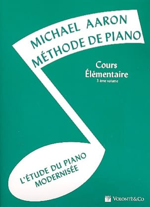 AARON - Piano Method Volume 3 Elementary Course - Partition - di-arezzo.co.uk