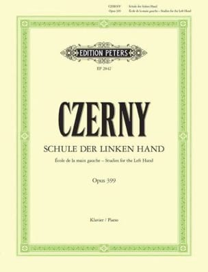 CZERNY - School of the Left Hand Opus 399 - Sheet Music - di-arezzo.com